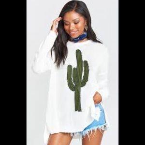 Mumu Mellow Bonfire Sweater- Desert Cactus Graphic